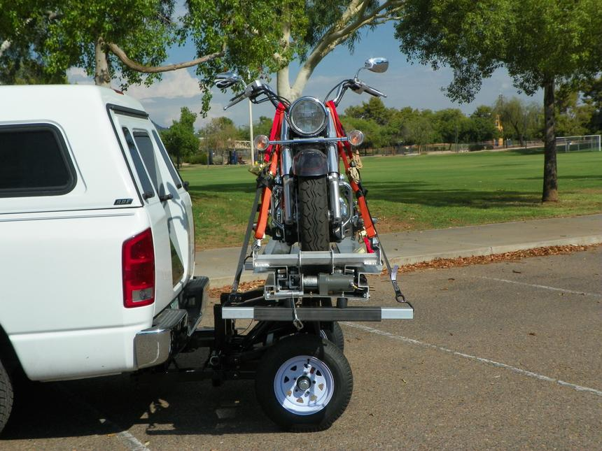 Motorcycle Trailer Hitch Carrier Hauler Tow Towing Dolly